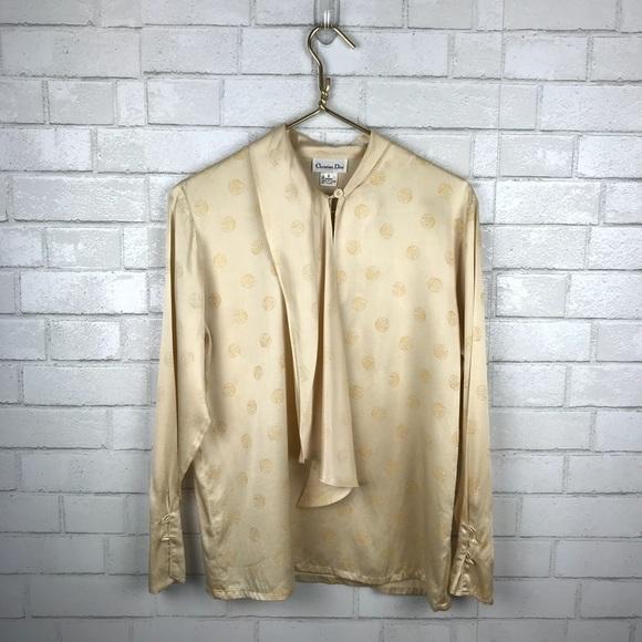bc0b2129891953 Christian Dior Tops - Vintage Christian Dior Silk Blouse